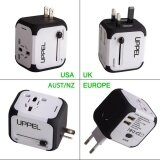 ซื้อ International Travel Power Adapter With 2 4A Dual Usb Charger Worldwide Ac Wall Outlet Plugs For Uk Us Au Europe Asia Built In Spare Fuse Gift Pouch Intl