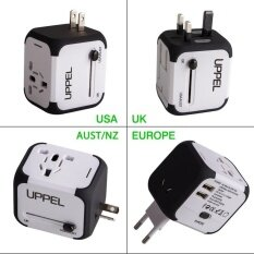 International Travel Power Adapter With 2 4A Dual Usb Charger Worldwide Ac Wall Outlet Plugs For Uk Us Au Europe Asia Built In Spare Fuse Gift Pouch Intl ใหม่ล่าสุด