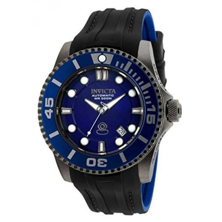 Invicta Mens Pro Diver Automatic Stainless Steel and Silicone Diving Watch, Color:Black (Model: 20204) - intl