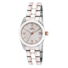 ซื้อ Invicta Specialty Lady S Steel Rose Gold White Stainless Steel Ceramic Strap Watch 18151 Invicta