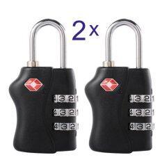 ขาย ซื้อ Iremax 2 Pcs Tsa Security 3 Digit Combination Suitcase Luggage Bag Code Lock Padlock ใน กรุงเทพมหานคร