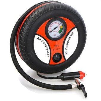iremax ปั้มลมไฟฟ้าสำหรับรถยนต์ ปั๊มเติมลมยางล้อรถยนต์ฉุกเฉิน แบบพกพา รูปล้อรถ Air Pump สูงสุด 260 PSI 12 V-จำนวน 1ชิ้น