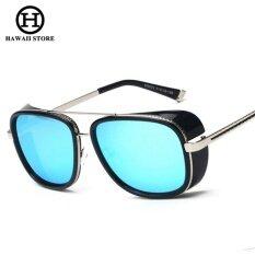 ราคา Iron Man 3 Matsuda Tony แว่นตากันแดด Steampunk Men Mirrored ออกแบบแว่นตากีฬาวินเทจแว่นตากันแดด สนามบินนานาชาติ Unbranded Generic ใหม่