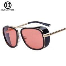 ขาย Iron ผู้ชาย 3 Matsuda Tony แว่นตากันแดดสตีมพังค์ผู้ชาย Mirrored ออกแบบแว่นตากีฬาวินเทจแว่นตากันแดด สนามบินนานาชาติสีแดง ถูก จีน