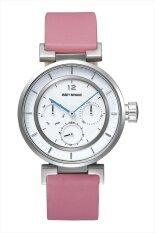 ซื้อ Issey Miyake นาฬิกาข้อมือผู้หญิง สายหนัง รุ่น Silaab06 สีชมพู ใหม่