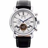 ขาย ซื้อ ออนไลน์ Jaragar Luxury Men S Black Leather Automatic Mechanical Date Day Sport Wrist Watch Pmw017 นาฬิกาข้อมือชาย แฟชั่น สปอร์ต เท่ Intl