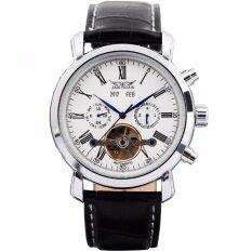 ขาย ซื้อ Jaragar Luxury Men S Black Leather Automatic Mechanical Date Day Sport Wrist Watch Pmw017 นาฬิกาข้อมือชาย แฟชั่น สปอร์ต เท่ Intl Thailand