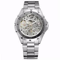 Jaragar นาฬิกาข้อมือผู้ชาย ระบบกลไกแบบไขลาน โชว์กลไก สไตส์คลาสสิก สายสแตนเลส เป็นต้นฉบับ