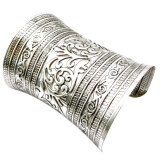 Jetting Buy Fashion Antique Curved Jewelry Long Wide Vintage Metal Cuff Bracelet Bangle Silver ถูก