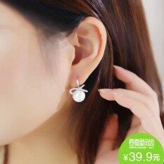 ราคา ร้อยปีต่างหูที่เรียบง่ายต่างหูหญิงโบว์มุก Unbranded Generic เป็นต้นฉบับ