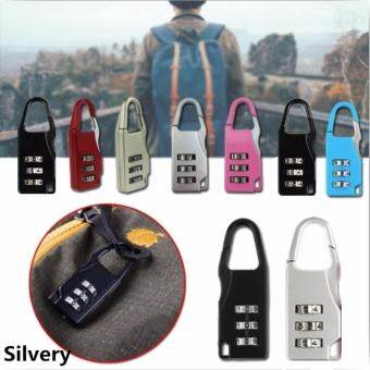 JJ กุญแจล็อคกระเป๋าเดินทาง กุญแจแบบตั้งรหัสผ่าน กุญแจล็อครหัส(Silvery)