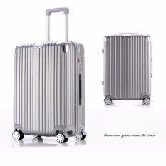 ซื้อ Jm Shop กระเป๋าเดินทางล้อลาก 4 ล้อ ขนาด 24 นิ้ว รุ่น 8367 Silver ใหม่