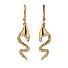 ขาย Jo In E702 Wholesale Nickle Free Antiallergic 18K Real Gold Plated Earrings For Women New Fashion Jewelry Gold Intl ใน จีน
