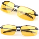 ราคา Jo In Men S Polarized Driving Sunglasses Yellow Lens Night Vision Driving Glasses Goggles Reduce Glare Black ออนไลน์