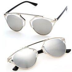 ราคา Jo In แว่นตากันแดด Retro Men Women Silver Unbranded Generic เป็นต้นฉบับ