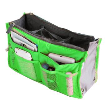 Jo.In สตรีกระเป๋าถือใบใหญ่ใส่นัดหมายท่องเที่ยวดึงกระเป๋าเงินกระเป๋าออแกไนเซอร์เรียบร้อย (สีเขียว)