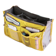 ซื้อ Jo In Women Travel Insert Handbag Organiser Purse Large Liner Organizer Tidy Bag Pouch Yellow ใหม่