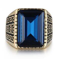 ขาย Joy 18 K Gold Man Ring Pattern Ring Urban Preview ใน จีน