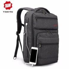 ซื้อ Joy Usb Charging Fabric Laptop Backpack Fit For 12 15 6 Laptop Grey Intl ถูก
