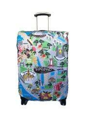 ขาย Joyyventure ที่คลุมกระเป๋าเดินทาง ลาย Bangkok Map ขนาด 25 นิ้ว สีฟ้า Joy ใน ไทย