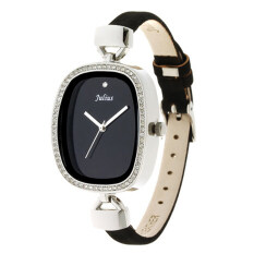ราคา Julius นาฬิกาข้อมือผู้หญิง สายหนัง รุ่น Ja 298 Black Bl ใน Thailand