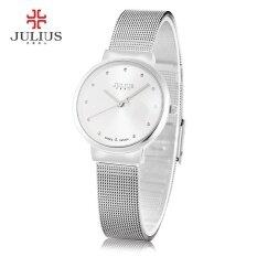 Julius Ja - 426l หญิงบางเฉียบสแตนเลสสตีลตาข่ายวงนาฬิกาข้อมือควอตซ์ - นานาชาติ