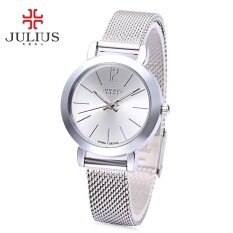 ซื้อ Julius Ja 732 ผู้หญิงนาฬิกาควอตซ์สแตนเลสสตีลส่องสว่างนาฬิกาข้อมือหญิง ใหม่
