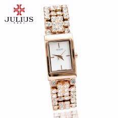 ขาย ซื้อ Julius นาฬิกาข้อมือผู้หญิง สายสแตนเลส รุ่น Ja776B สายสีชมพูทอง Pink Gold หน้าปัดสีขาว กรุงเทพมหานคร