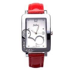 ส่วนลด Julius นาฬิกาข้อมือผู้หญิง สีแดง สายหนัง รุ่น Ja447