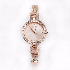 ราคา Julius นาฬิกาข้อมือ สายโลหะ รุ่น Ja491 สายสีชมพูทอง Pink Gold หน้าปัดสีชมพูทอง Pink Gold ออนไลน์