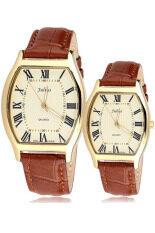 Julius นาฬิกาข้อมือคู่รัก สายหนัง รุ่น Ja703 สีทอง Julius ถูก ใน สมุทรปราการ