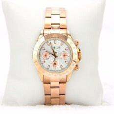 ราคา Julius นาฬิกาแบรนด์เกาหลี สายสแตนเลส รุ่น Ja796 สายสีชมพูทอง Pink Gold หน้าปัดสีเงิน Silver By Budgerigar Shops ใหม่ล่าสุด
