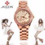 ราคา Julius นาฬิกาแบรนด์เกาหลี สายสแตนเลส รุ่น Ja811 สายสีชมพูทอง Pinkgold หน้าปัดสีชมพูทอง Pinkgold By Budgerigar Time ใหม่ล่าสุด