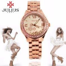 ราคา Julius นาฬิกาแบรนด์เกาหลี สายสแตนเลส รุ่น Ja811 สายสีชมพูทอง Pinkgold หน้าปัดสีชมพูทอง Pinkgold By Budgerigar Time Julius ใหม่