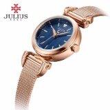 ส่วนลด Julius นาฬิกาแบรนด์เกาหลี สายสแตนเลส รุ่น Ja971 สายสีชมพูทอง Pinkgold หน้าปัดสีน้ำเงิน Blue By Budgerigar Time Julius กรุงเทพมหานคร