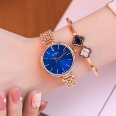 ขาย Julius แฟชั่นหญิงบรรยากาศนางสาว Shi Ying นาฬิกาเข็มขัดเหล็กนาฬิกา Julius เป็นต้นฉบับ