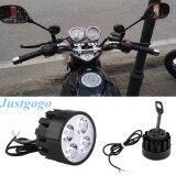 ราคา Justgogo 1 Pair Motorcycle Headlight Led Light Spotlight Universal เป็นต้นฉบับ