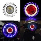 ราคา Justgogo Motorcycle Led Headlight Projector Lens Dual Angel Devil Eye Head Lamp Cyclone Type Intl Unbranded Generic เป็นต้นฉบับ