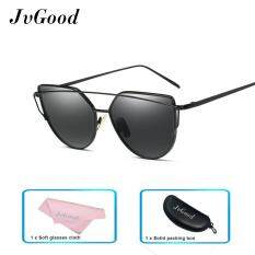Jvgood แฟชั่นผู้หญิงแว่นตากันแดดครีมกันแดด Anti Uv สีฟิล์มแว่นตา อุปกรณ์เสริมแว่นตากันแดดทองและสีเงิน เป็นต้นฉบับ