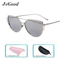 ซื้อ Jvgood แฟชั่นผู้หญิงแว่นตากันแดดครีมกันแดด Anti Uv สีฟิล์มแว่นตา อุปกรณ์เสริมแว่นตากันแดดทองและสีเงิน ใหม่
