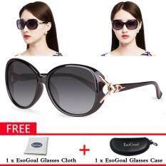 ขาย Jvgood ผู้หญิงแว่นตากันแดด Polarized แว่นตากันแดดป้องกันรังสี Uv 100 แถมฟรีกล่องเก็บ