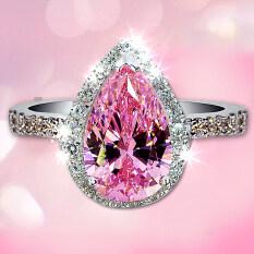 ราคา Jz123 เจ้าหญิงลูกแพร์ชนิดผงจำลองแหวนเพชร Unbranded Generic