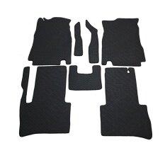 K Rubber พรมปูพื้นเข้ารูป รุ่น Nissan Tida ลายกระดุม ชุด 7 ชิ้น สีดำ เป็นต้นฉบับ
