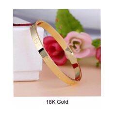 ราคา กำไลข้อมือสี Goldแฟชั่นเกาหลีผู้หญิง Lucky999