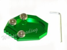 Kickstand Foot Side Stand Extension Pad Support Plate For Kawasaki Versys 650 Klx250 2010 2011 2012 2013 2014 2015 Green Intl ใหม่ล่าสุด