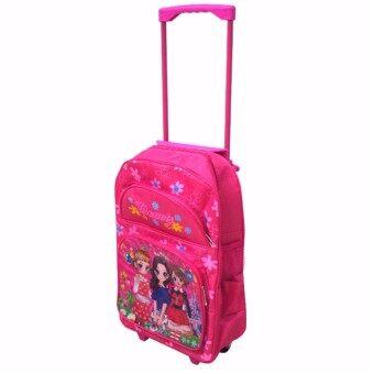 Kids กระเป๋าเป้เด็ก กระเป๋าเป้มีล้อลาก เป้สะพายหลัง กระเป๋าเดินทางเด็ก กระเป๋านักเรียน เป้มีล้อลากเด็ก กระเป๋าล้อลากเด็ก[16 นิ้ว] [ลายนางแบบ]
