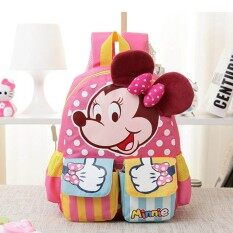 Kids Children Cartoon Mouse Solid Pattern Schoolbag Travel Outdoor Sch**l Bag Kindergarten Kids Bag Backpack For 3 6 Years Old Kids Intl จีน