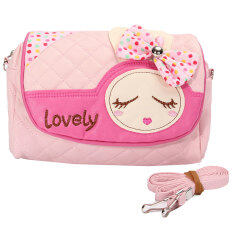 ราคา Kids Children Girls Princess Rabbit Bowknot Handbag Shoulder Bags Messenger Bag Intl ใหม่