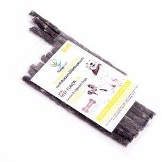 Kiengmool ขนมขัดฟันสุนัขถ่านไม้ไผ่เคียงมูลแบบแท่ง รสเนื้อ - 10 แท่ง/แพ็ค (แพ็ค X3).