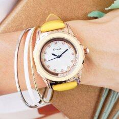 ซื้อ Kimio แพ็คคู่ นาฬิกาพร้อมกำไลข้อมือ ซื้อ 1 แถม 1 รุ่น Kw512M สี Yellow Mastard ฟรีกำไลข้อมือ Bg B0010 คละแบบ ใหม่